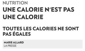 Article calories